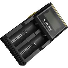 NITECORE D2 Digicharger Li-ion, Ni-MH and Ni-Cd Battery Charger, 2 Slot