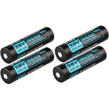 Olight HDC 3500mAh-18650 Rechargeable Lithium-Ion Battery, 4-Pack