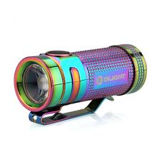 Olight S Mini Ti Limited Edition Baton LED Flashlight, Rainbow PVD, 550 Max Lumens