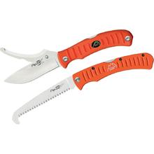 Outdoor Edge Flip N' Blaze with Saw Combo Set, Orange Handles, Nylon Sheath