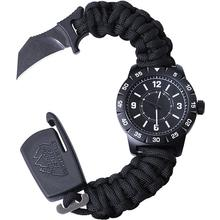 Outdoor Edge Para-Claw CQD Watch, Large, Stainless Steel, Black