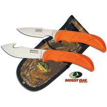 Outdoor Edge Wild-Pair Guthook Skinner/Caper Combo Set, Mossy Oak Nylon Sheath