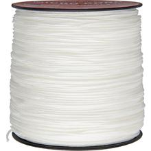 550 Micro Cord, White, Nylon Braided, 1,000 Feet x 1.18 mm