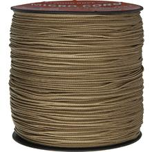 550 Micro Cord, Tan, Nylon Braided, 1,000 Feet x 1.18 mm