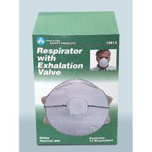 PhysiciansCare Brand N95 Respirator w/Exhalation Valve - 12/box