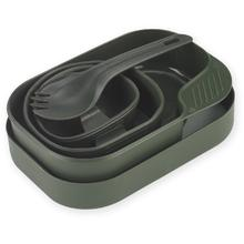 Wildo Camp-A-Box Utensil and Plate Set, Olive