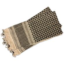 Red Rock Outdoor Gear Shemagh Head Wrap, Khaki/Black