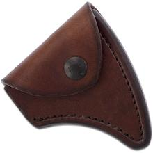 RMJ Tactical Brown Leather Edge Cover for the Kestrel Trail Hammer Head Tomahawk, Sheath Only