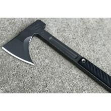RMJ Tactical Kestrel Trail Tomahawk 13 inch Overall, Hammer Head, Black G10 Handle, Kydex Sheath with Low Ride Straps