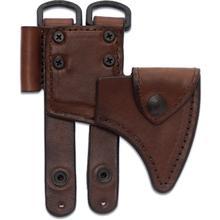 RMJ Tactical Brown Leather Sheath for the Kestrel Trail Hammer Head Tomahawk, Sheath Only