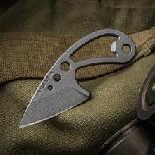 RMJ Tactical Origin Neck Knife 2 inch Nitro-V Stainless Steel Blade and Handle, Kydex Sheath