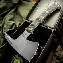 RMJ Tactical Pathfinder Tomahawk 11.75 inch Overall, Dirty Olive G10 Handle, Kydex Sheath with MOC Straps