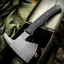RMJ Tactical Pathfinder Tomahawk 11.75 inch Overall, Black G10 Handle, Kydex Sheath with MOC Straps