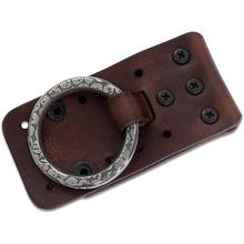 RMJ Tactical Brown Leather Wilderness Baldric for Hatchet/Hawk Carry Rig