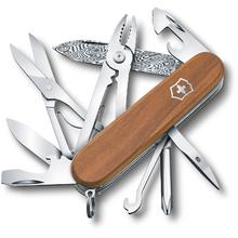 Victorinox Swiss Army Deluxe Tinker Damast Limited Edition 2018 Multi-Tool, Walnut Wood, 3.58 inch Closed