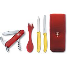 Victorinox Swiss Army Waiter Multi-Tool Camping Set, Spork, Paring and Utility Knives