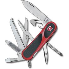 Victorinox Swiss Army 2.4913.C EvoGrip 18 Multi-Tool 3-3/8 inch Red Handles with Black Rubber Inserts