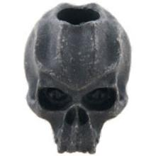Schmuckatelli Black Oxidized Pewter Cyber Skull Bead