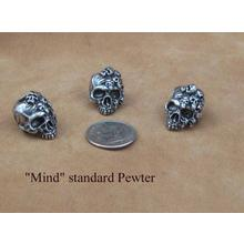 Schmuckatelli Pewter Mind Skull Bead