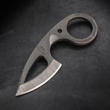 Scorpion 6 Knives Custom Frelser Neck Knife 2 inch D2  Black Loki Blade, Kydex Sheath