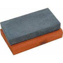 Arkansas Black Hard Arkansas Stone 4 inch x 2 inch x 1/2 inch on Cedar Block