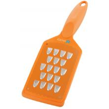 KitchenIQ by Smith's 50199 V-Etched Extra Coarse Grater, Orange