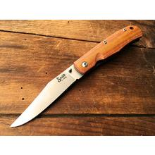 Smith & Sons Cypress Trapper Liner Lock Folding Knife 3.375 inch D2 Stonewashed Blade, Natural Micarta Handles
