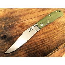 Smith & Sons Cypress Trapper Liner Lock Folding Knife 3.375 inch D2 Stonewashed Blade, OD Green G10 Handles