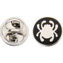 Spyderco Lapel Bug Pin, 1/2 inch Diameter, Black with Silver SpyderLogo