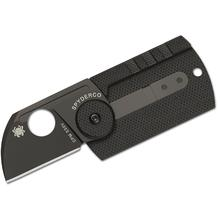 Spyderco C188CFBBKP Serge Panchenko Dog Tag Folder 1.22 inch S30V Chisel Ground Blade, Carbon Fiber and G10 Handles