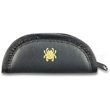 Spyderco 18C Small Mock Leather Padded Zipper Pouch, 5 inch Overall
