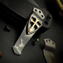 Steel Flame Royal Bronze Crusader Cross Pocket Clip for Emerson Knives