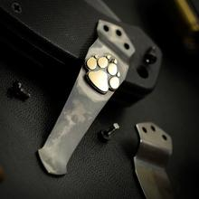 Steel Flame Royal Bronze Dog Paw Pocket Clip for Emerson Knives