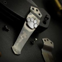 Steel Flame Sterling Silver Dog Paw Pocket Clip for Emerson Knives
