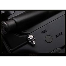 Steel Flame Sterling Silver Darkness Skull AR Takedown Pin