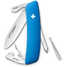 SWIZA D04 Swiss Pocket Knife Multi-Tool, Blue, 2.95 inch Plain Blade