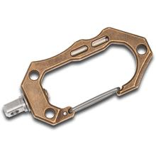 Tuff-Writer D22 Large Brass Carabiner, Aged (TWP-BRS-D22LUM-AGE)
