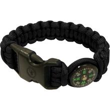 UST Ultimate Survival Paracord Survival Compass Bracelet, Black