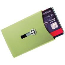 Wagner Super Slim Swiss Wallet with Money Clip, Green Anodized Aluminum
