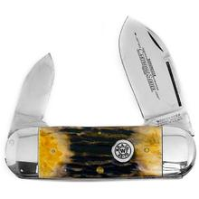 Winchester 4 inch Closed Two Blade Cartridge Series Sunfish Pocketknife, Stag Handles