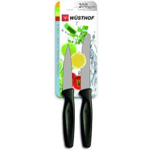 Wusthof Zest 2 Piece Paring Knife Set, Black