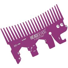 Zootility Tools Headgehog 3.25 inch x 2 inch Stainless Steel Utility Tool, Magenta