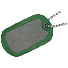 The Original Dog Tag Knife Survival Tool, Titanium Blade, Green Rubber Frame