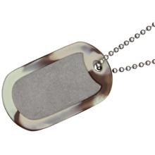 The Original Dog Tag Knife Survival Tool, Titanium Blade, Brown Camo Rubber Frame