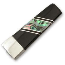 Beautiful Nickle-Silver, Abalone with Black-Jet Inlay Money Clip