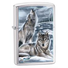 Zippo Mazzi-Winter, Brushed Chrome Classic