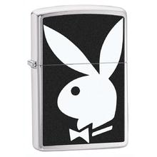 Zippo Playboy, Brushed Chrome Classic
