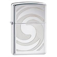 Zippo 3D Abstract High Polish Chrome Classic