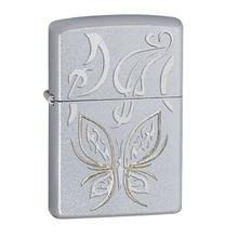 Zippo Golden Butterfly, Satin Chrome Classic