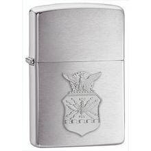 Zippo Air Force Crest Emblem, Brushed Chrome Classic